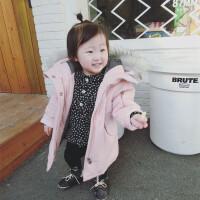 冬装外套婴幼儿儿童加绒中长款女童宝宝小童棉衣大毛领外出服