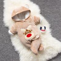婴儿连体衣服冬季0岁2个月宝宝5冬装新生儿加厚衣服外出服