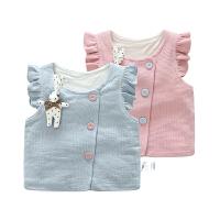 婴儿儿童棉马甲秋冬季男女童婴儿宝宝马甲中小童双层保暖背心外套