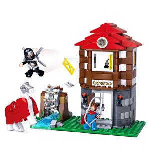 【当当自营】小鲁班刺客传奇系列儿童益智拼装积木玩具 水车藏宝阁M38-B0616