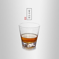 当当优品 创意富士山玻璃水杯 威士忌酒杯 果汁杯 200ml