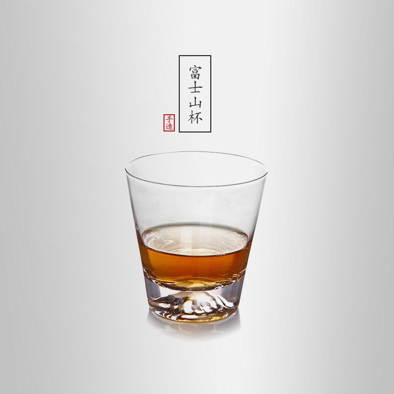当当优品 创意富士山玻璃水杯 威士忌酒杯 果汁杯 200ml 当当自营 手工制作 富士山杯