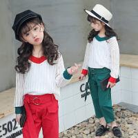 秋季女童三件套韩版休闲淑女个性长袖童装套装衣服潮
