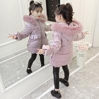 公主棉袄加厚潮女童韩版女孩中大童洋气时髦短款冬装
