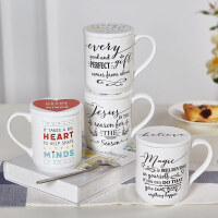 Evergreen爱屋格林创意欧式陶瓷马克杯简约大容量咖啡杯水杯 配杯垫套装
