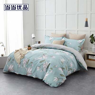 当当优品四件套 纯棉床单款双人床品件套 丝佩兰(蓝)