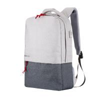 休闲双肩电脑包潮流男女15.6寸14多功能充电背包大学高中学生书包