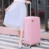学生拉杆箱男行李箱女密码箱硬箱20寸22寸24寸26寸旅行箱托运硬箱 粉色 单箱