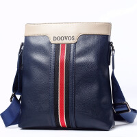 新款时尚男士单肩包斜挎包休闲商务软皮包韩版潮流背包斜跨男包包