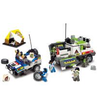 【当当自营】小鲁班越野王赛车系列儿童益智拼装积木玩具 丛林越野赛M38-B0138