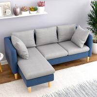 良木布艺沙发宜家家居小户型客厅转角三人沙发欧式沙发床家具旗舰