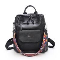 学生书包女双肩包新款韩版女包时尚休闲百搭复古包旅行背包大 黑色