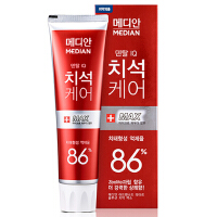 韩国爱茉莉麦迪安86%牙膏 深层清洁 压轴护理 120g 86红色 新老包装随发