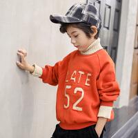 韩版儿童连帽加厚上衣小男孩潮衣童装男童加绒卫衣秋冬装