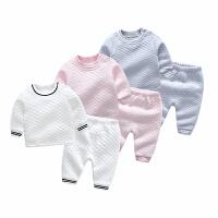 婴儿儿童加厚加绒秋冬季睡衣男童女童小孩宝宝长袖家居服睡衣套装