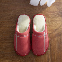 棉拖鞋女厚底居家保暖防滑情侣室内防水地板毛绒拖鞋