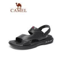camel骆驼凉拖两用男鞋2019夏季新款真皮商务休闲凉鞋防滑气垫韩版拖鞋