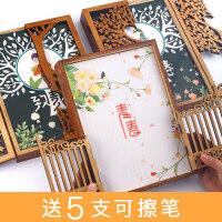 100张木盒同学录男小学生毕业女活页复古纪念册本创意初中生盒装