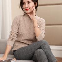 修身毛衣针织打底羊毛衫 秋冬季新款女士半高领短款套头羊绒衫