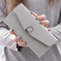 软皮三折女士零钱包长款韩版多卡位钱夹时尚钱夹小清新手机手拿包