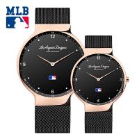 美职棒(MLB)美国品牌女士手表正品防水石英表 情侣对表简约时尚休闲潮流钢带情侣表SD0201