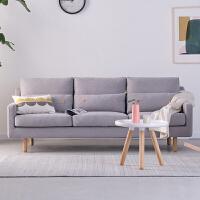 北欧沙发布艺简约小户型公寓客厅双人三人贵妃位乳胶沙发 位+左贵妃