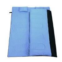 双人情侣 户外加厚户外露营成人睡袋 含两个枕头 加厚款