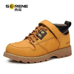 西瑞秋季系款男士工装鞋低帮休闲真皮鞋加厚军靴保暖防滑大黄靴潮7131