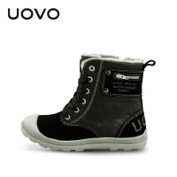 UOVO2017新款童鞋男鞋儿童雪地靴保暖鞋男孩帆布运动鞋防滑童靴 帕拉丁