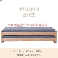 实木沙发床单人双人经济型 小户型客厅布艺折叠多功能沙发床两用 1.8米-2米
