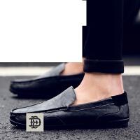 男士休闲鞋韩版潮流懒人蹬小白潮鞋豆豆鞋皮鞋乐福鞋透气男鞋子