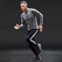 健身房运动套装男户外跑步套装男透气速干衣健身服训练服
