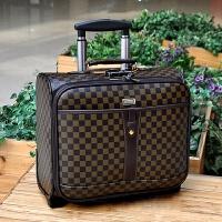 16寸拉杆箱商务电脑旅行箱包小型密码箱登机箱子可爱小皮箱行李箱 16寸