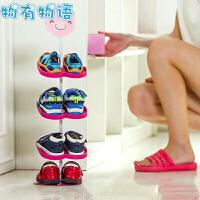 立体儿童鞋架 家用柜门挂式鞋子收纳架可爱卡通动物鞋架整理柜一体式鞋架