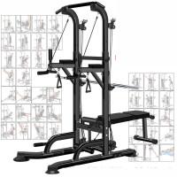 运动器械家用伸缩单扛 单双杠引体向上室内健身器材家用综合训练器械多功能运动组合套装 CX