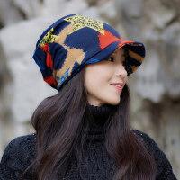 帽子女时尚韩版休闲百搭潮流女士包头鸭舌月子帽