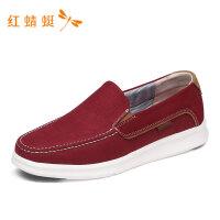 红蜻蜓男鞋春夏新款网布透气低跟轻便舒适运动休闲鞋男休闲单鞋-