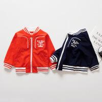2018春季新款男童休闲运动夹克外套宝宝棒球服婴儿2春装0-1-3岁潮