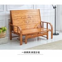 可折叠床竹床凉床实木板两用沙发床躺椅午休1.2单人1.5米双人家用