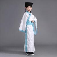 新款棉麻小男孩宝宝书生国学儿童古装汉服直裾表演出舞台服装