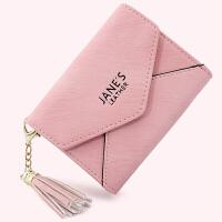 多卡位卡包钱包一体包可爱迷你女式名片夹个性驾驶证卡片包男 浅粉