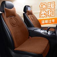汽车坐垫冬季毛绒单个主驾驶地毯羊毛垫保暖日式车垫子小蛮腰座垫