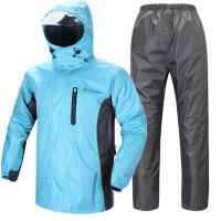 雨之恋 YZL-868 男女含抓绒加厚户外电动车摩托车冲锋衣雨衣雨裤分体套装