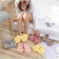 韩版棉拖鞋女冬包跟室内保暖卡通月子鞋可爱一家三口情侣儿童亲子