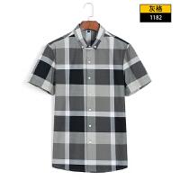 男士衬衫短袖夏季棉白色牛津纺寸衫休闲修身纯色半袖衬衣