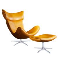 北欧皮单人沙发轻奢单椅蜗牛椅懒人躺椅客厅椅子老虎椅美式休闲椅