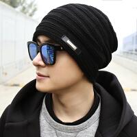 男士帽子潮时尚新款冬季男冬天保暖防风围巾防寒加厚护耳毛线帽