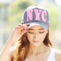 韩版棒球帽防晒遮阳帽户外鸭舌帽夏潮帽嘻哈女士学生太阳帽