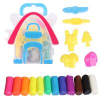 3D彩泥 12色24色橡皮泥创意儿童模具套装