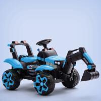 儿童挖掘机挖土机遥控玩具车全电动可坐可骑充电超大号勾机工程车 +遥控